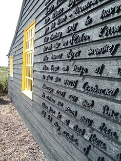 donne | the sunne rising | carved on the wall of derek jarman's cottage, dungeness