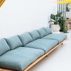 DREAMER COUCH - LINEN This is the couch we've always dreamed of. A signature bentwood curve gives lightness and easy lines to this soft and comfortable couch. Made from recycled or Wood Sofa, Custom Sofa, Furniture Design, Home, Diy Sofa, Sofa Design, Furniture, Modern Couch, Diy Couch