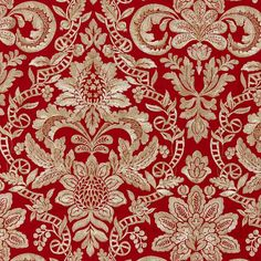 The House of Scalamandre Elizabeth Damask Embroidery Fabric (Set of Color: Carnelian Textile Patterns, Textiles, Damask Patterns, Pretty Patterns, Textile Art, Drapery Fabric, Linen Fabric, Embroidery Fabric, Embroidery Designs