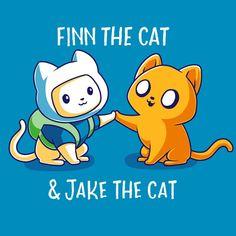 Finn the Cat & Jake the Cat T-Shirt Adventure Time TeeTurtle