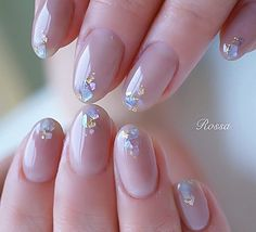 Office Nails, Nagel Bling, Japanese Nail Art, Japanese Nail Design, Short Nails Art, Cat Nails, Best Acrylic Nails, Neutral Nails, Pastel Nails