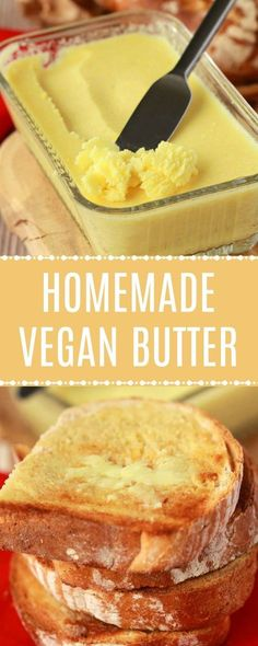 Creamy and super buttery homemade vegan butter! This delicious 7-ingredient recipe is perfectly spreadable, melts fabulously on toast, is great for frying, baking and wherever a great vegan butter is needed! #vegan #lovingitvegan #veganbutter #homemade #dairyfree #glutenfree   lovingitvegan.com