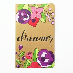 Hand Painted Moleskine Notebook Travel Diary by DanielleContiArt