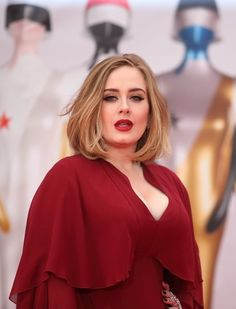 Adele In a Red Lip That Perfectly Matches Her Red Giambattista Valli Dress at the Brit Awards // See All of the Celebrity Looks from the Brit Awards Red Carpet: (http://www.racked.com/2016/2/24/11107970/brit-awards-red-carpet-2016#6343867)