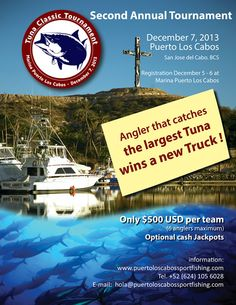 The countdown begins, save the date for the Classic Tournament. San Jose Del Cabo, Fishing Magazines, Fishing Tournaments, Sport Fishing, Tuna, Save The Date, Classic, Poster, Life