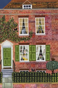 Sweet Baby Charles (cut paper collage of the Portsmouth birthplace of Charles Dickens) Amanda White