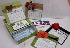 11/3/2010; LeeAnn Greff at ' Flowerbug's Inkspot' blog; calendar box made with coasters