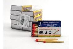 A box of UCO Compact Safety Matches are handy to have stashed around the house, RV, boat, and camping gear.