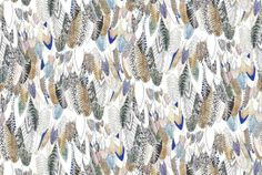 Feathers Multi by Helen Stevens, £26 per 10m roll, from Graham  Brown, 0800 328 8452
