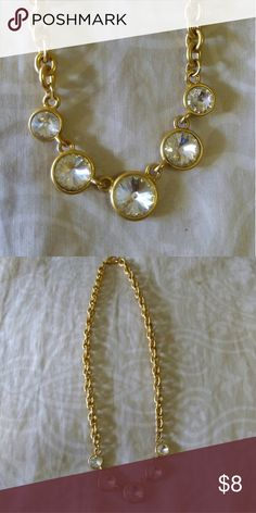Beautiful rhinestones gold necklace Good fod any ocations Jewelry Necklaces