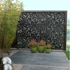 The front yard is where you first greet your guest, unless. It's not with 'hello' verbally, but more with the state of your front yard landscape. Outdoor Rooms, Outdoor Living, Composite Fencing, Garden Fence Panels, Metal Fence Panels, Lattice Fence Panels, Metal Garden Screens, Lattice Screen, Metal Screen