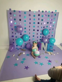 Trendy baby first birthday photography smash cakes 1st Birthday Photoshoot, Baby 1st Birthday, First Birthday Parties, First Birthday Girl Mermaid, Birthday Ideas, 1st Birthday Cake Smash, Twin Birthday Themes, One Year Birthday Cake, 1st Birthday Decorations