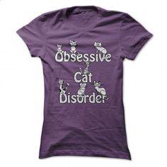 Obsessive Cat Disorder - Cartoon Cats T Shirt - #shirt designs #design shirt…