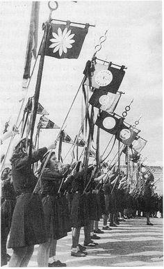 Spain - 1936-39. - GC - Banderas de la Sección Femenina de Falange