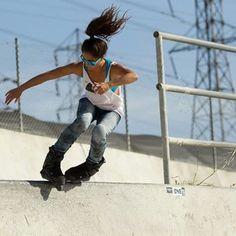Girl & Skates #aggressive #rollerblade