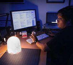 Pac-Man Ghost Lamp - $20