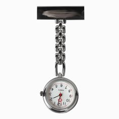 Hot Fashion Nurse Table Pocket Watch with Clip Brooch Chain Quartz Mini Watches      ~M24