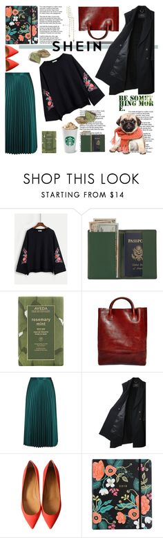 """Untitled #501"" by milicamonaj ❤ liked on Polyvore featuring Royce Leather, Aveda, Libero Ferrero, Whistles, Rachel Comey, Rifle Paper Co, cute, pug and shein"