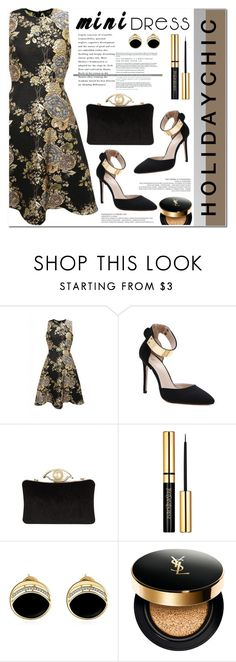"""""""holiday chic"""" by nanawidia ❤ liked on Polyvore featuring AX Paris, Yves Saint Laurent, womenswear and twinkledeals"""