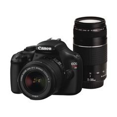 Canon EOS Rebel T3 12.2MP Digital SLR Camera With 18-55 IS and EF 75-300mm USM Lens Kit - Black $599