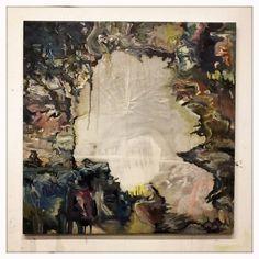 Jon Ridge - New piece (Sept '13) as yet untitled. 80cm x 80cm Oil on canvas