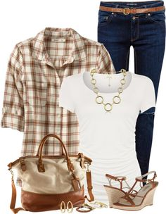 casual plaid shirt summer outfit bmodish