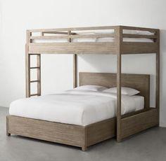 Laguna Loft-Over-Queen Platform Bed Bunk Bed Rooms, Adult Bunk Beds, Loft Bunk Beds, Bunk Bed Plans, Modern Bunk Beds, Platform Bed With Storage, Queen Platform Bed, Best Platform Beds, Queen Size Bunk Beds