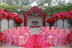 Wow! Perfect for a Valentine's Day wedding!
