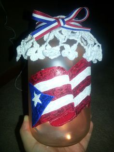 Puerto Rico Mason jar