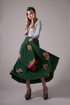 1970′s silk Geoffrey Beene skirt and kimono top set from Market Publique