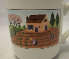Villeroy Boch Design Naif Coffee Mug Cup Farm Field Country Scene Rooster 10oz #VilleroyBoch