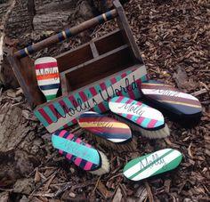Custom brush box and matching brushes