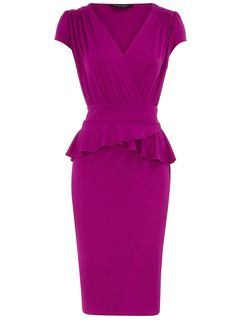 Dorothy Perkins  Raspbery jersey peplum dress  Price: £25.00  Colour: pink