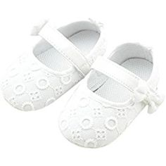 DZT1968® Baby Girl Soft Sole Cloth Mary Jane Shoes Prewalker With Bowknot (0~6 Months)