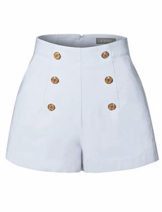 Womens High Waisted Front Button Retro Vintage Pin Up Sailor Shorts with Pockets Stage Outfits, Teen Fashion Outfits, Retro Outfits, Grunge Outfits, Cute Casual Outfits, Grunge Dress, Harry Styles Ropa, Harry Styles Clothes, Sailor Shorts