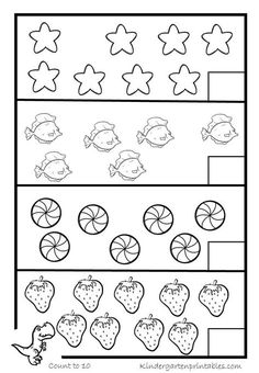 Counting Worksheets-6-10 | Counting Worksheets For