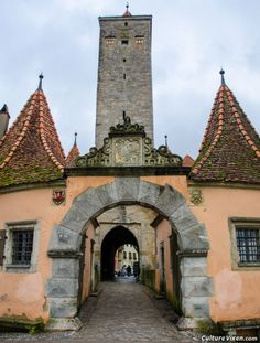 Entrance to the old city of #Rothenburg ob der Tauber, #Germany.