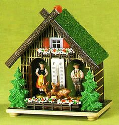 Hand-crafted German weather house features a Bavarian man and woman. When the weather is sunny, the woman comes out. 1970s Childhood, My Childhood Memories, Sweet Memories, German Folk, Im A Princess, Ol Days, The Good Old Days, Back In The Day, The Past