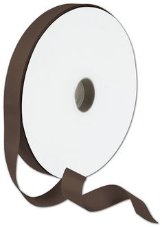 Ribbons Solid Color - Grosgrain Chocolate Ribbon, 7/8' x 100 Yds (1 Roll) - BOWS-066-7-850 ** You can find more details by visiting the image link.