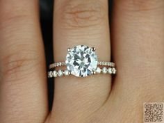 6. #Micro-thin Band - Perfect #Engagement Ring Inspos #Every Girl Will Love ... → #Jewelry #Rings