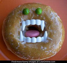 Donut Vampire...this actually scared me wen I saw it.....I LITERALLY JUMPED