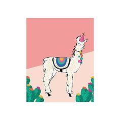 Cute Hipster Llama Collage Poster Paper Print Wall Art Living Room Home Office Decor 16 x 20 * Check this awesome product by going to the link at the image.