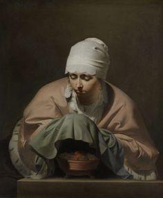 A Young Woman Warming her Hands over a Brazier: Allegory of Winter, Caesar Bo�tius van Everdingen, c. 1644 - c. 1648