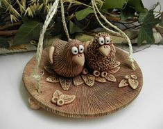 Výsledek obrázku pro hnízdo s ptáčky z keramiky