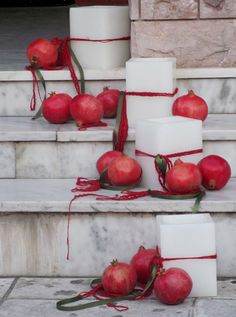 simple to do...love the poms...and it's in Greece!!