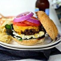 Jalapeño Cheddar Burger + Charred Corn Mayo