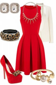 minus the jewlery plus a super cute belt with a leopard bow to match the shoes