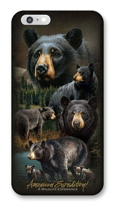 This striking iPhone 6 & 6s cover features amazing illustrations of Black Bears in full color. The form fitting thermoplastic polyurethane case provides excellent protection, while adding little bulk