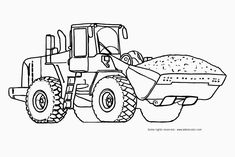 Bulldozer Coloring Pages