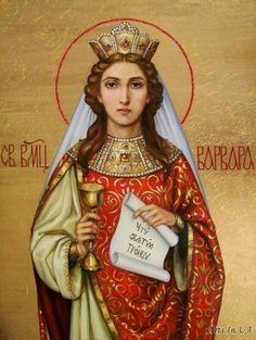 Catholic Art, Catholic Saints, Religious Icons, Religious Art, Saint Barbara, Russian Icons, Byzantine Icons, Holy Mary, Orthodox Icons
